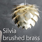 Silvia brushed brass