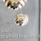 Silvia mini brushed brass